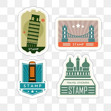 creative travel vintage stamp sticker, Color, Sticker, Creative PNG and PSD