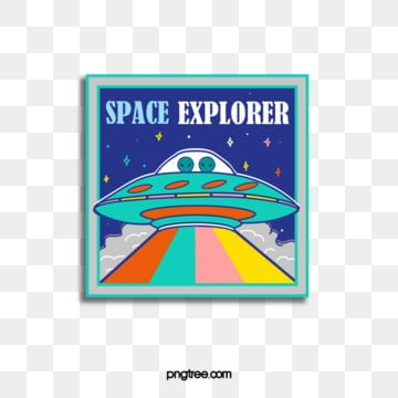 geometric square spaceship sticker, Geometric, Square, Universe PNG and PSD