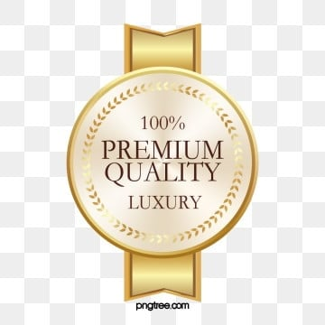 gold round label sticker high end, Golden, Round, Label PNG and PSD