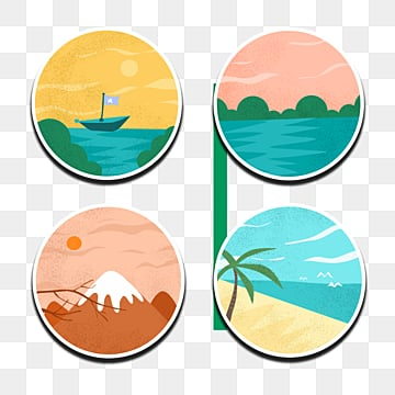 retro style travel minimalist sticker, Travel, Stamp, Sticker PNG and PSD