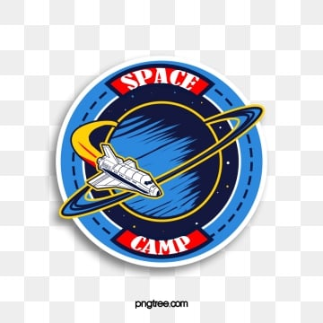 round blue space camp airplane sticker, Round, Blue, Space Camp PNG and PSD