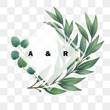 simple hand drawn eucalyptus wedding border, Hand Painted, Leaf, Eucalypti PNG and PSD
