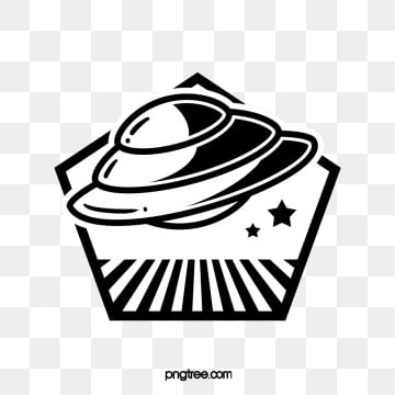 spaceship creative planet sticker, Ufo, Space, Flying Saucer PNG and PSD