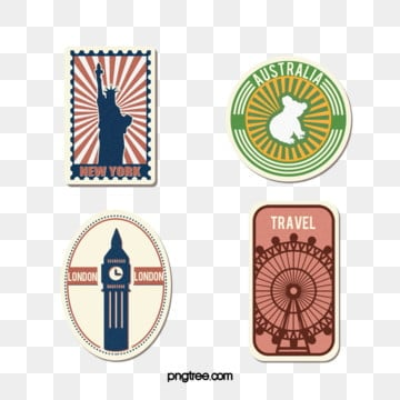 travel vacation stamp sticker, Tourism, On Vacation, Stamp PNG and PSD