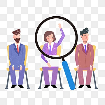 cartoon business recruitment creative illustration, Exquisite, Copyrighted, Simple PNG and PSD