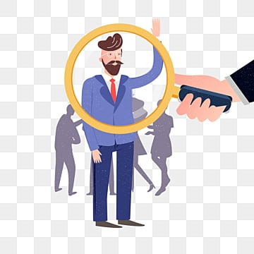 cartoon business recruitment man illustration, Exquisite, Copyrighted, Simple PNG and PSD