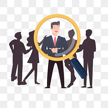 cartoon hand drawn business recruitment cute illustration, Recruit, Exquisite, Copyrighted PNG and PSD