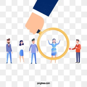 cartoon hand drawn business recruitment cute illustration, Exquisite, Copyrighted, Simple PNG and PSD