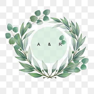 hand drawn eucalyptus leaves border border text box, Hand Painted, Eucalyptus Leaves, Frame PNG and PSD