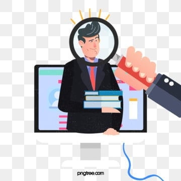 magnifying glass creative recruitment illustration, Exquisite, Copyrighted, Simple PNG and PSD