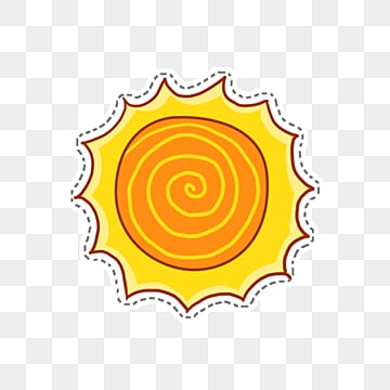 color sketch hand drawn sun material, Sunlight, Circle, Line PNG and PSD