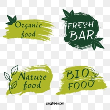 green fresh style farm label, Green, Fresh, Natural PNG and PSD
