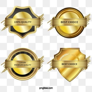 textured metallic gradient creative badge, Exquisite, Copyrighted, Simple PNG and PSD