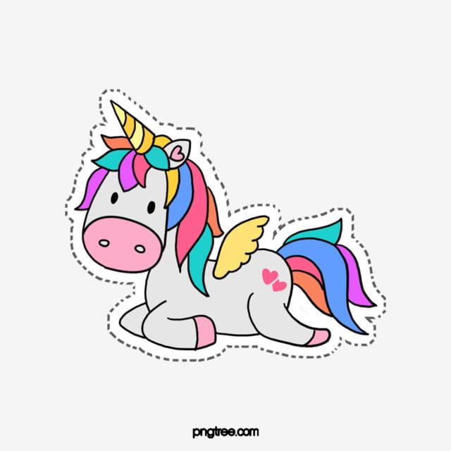 Colorful Cartoon Unicorn Elements Unicorn Horse Animal Png