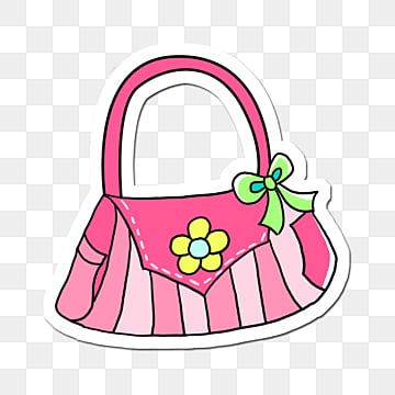 pink and white female handbag, Goods, Handbag, Flower PNG and PSD