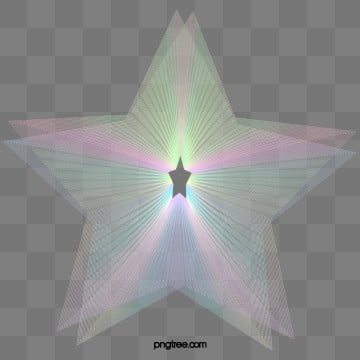 rainbow colored pentagonal holographic halo gradient ripple, Line, Colourful, Color PNG and PSD