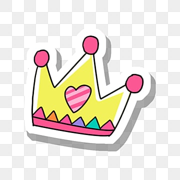 red circle on yellow crown, Yellow, Color, An Crown PNG and PSD