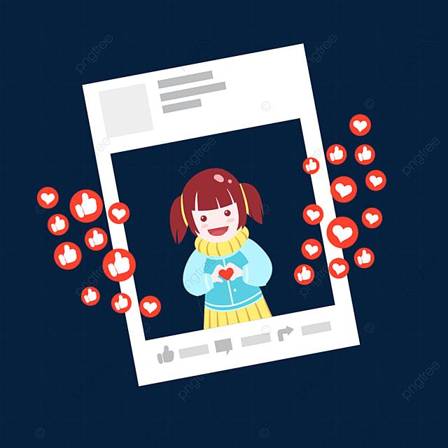Social Media Creative Cartoon Character Character Cartoon Style