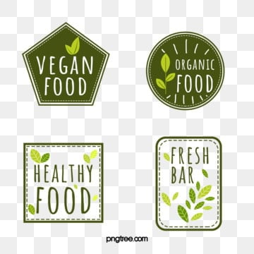 green fresh style label, Green, Vegetables, Food PNG and PSD