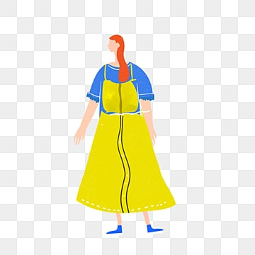cartoon yellow skirt female illustration, Skirt, Yellow, Exquisite PNG and PSD