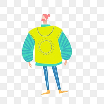 cartoon yellow vest male model illustration, Yellow, Green, Simple PNG and PSD