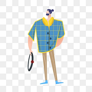 hand drawn plaid costume male model illustration, Hand Painted, Copyrighted, Simple PNG and PSD