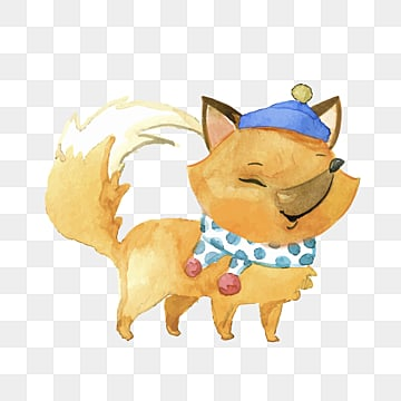 yellow fox cute cartoon hand drawn elements, Fox, Lovely, Cartoon PNG and PSD