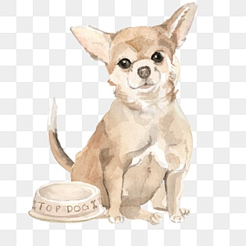 yellow watercolor puppy bomei element, Lovely, Illustration, Dog PNG and PSD