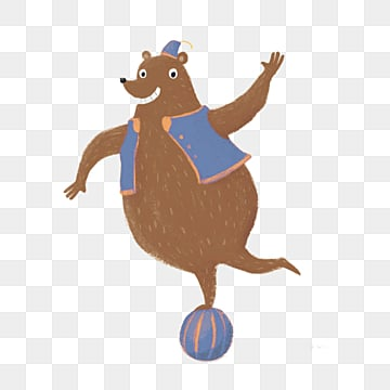 acrobatic group bear cute ball element, The Bear, Brown, Bear PNG and PSD