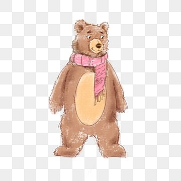 brown bear cute crayon element, The Bear, Lovely, Animal PNG and PSD