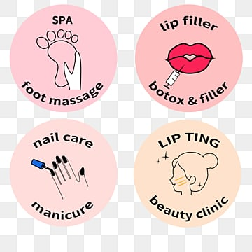cartoon clear beauty label illustration, Cartoon, Hand Painted, Cosmetology PNG and PSD
