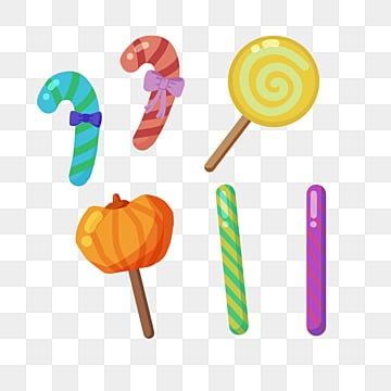 cartoon hand drawn halloween candy, Candy, Halloween, Candy Cane PNG and PSD