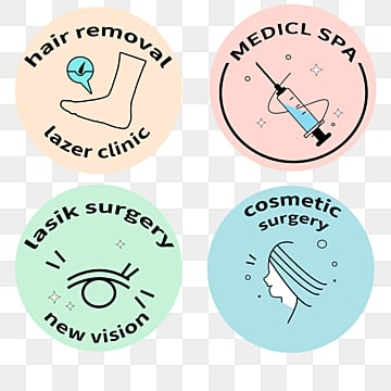 cartoon needle massage beauty label, Cosmetology, Cartoon, Needle PNG and PSD