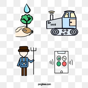 good looking smart farm linear icon, Line Style, Farm Icon, Creative PNG and PSD