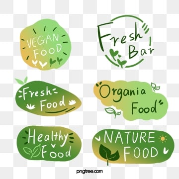 green fresh style gradient farm label, Gradient, Green, Leaf PNG and PSD
