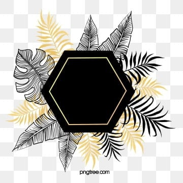 hand drawn botanical black gold plant border, Hand Painted, Plant, Black PNG and PSD