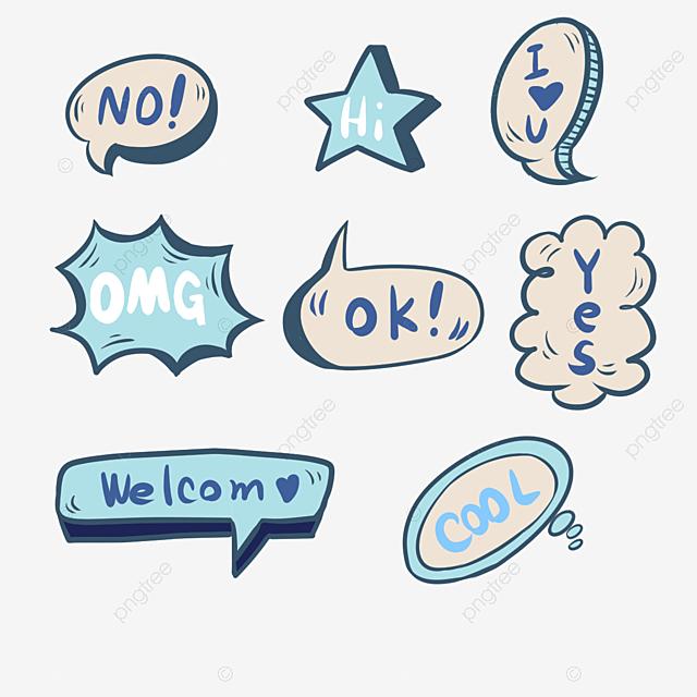 Social Account Blue Sticker Journal Scrapbook, Sticker, Hand