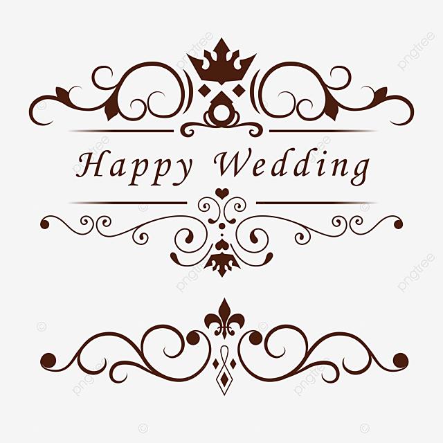 Wedding Vintage Line Pattern, Frame, Decoration, Pattern PNG