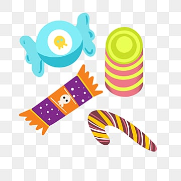 cartoon donkey halloween candy illustration, Wave Plate Sugar, Candy Cane, Sugar Candy PNG and PSD