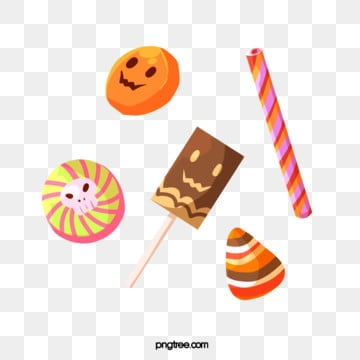 cartoon hand drawn halloween candy, Candy, Cartoon Style, Festival PNG and PSD