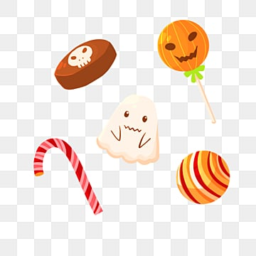halloween cartoon candy, Candy, Cartoon Style, Festival PNG and PSD