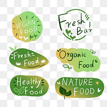 hand painted green fresh gradient farm label, Green, Hand Painted, Gradient PNG and PSD