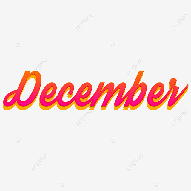 december 3d month art font png and psd graphic files Art