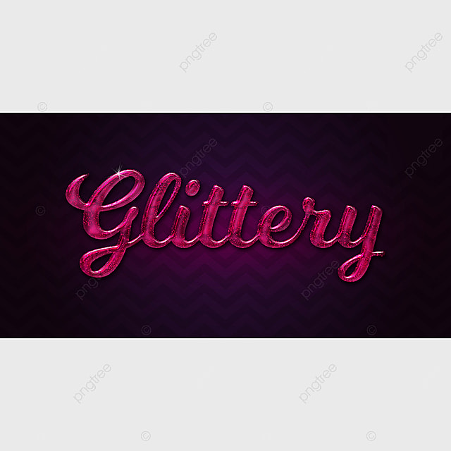 glittery text style effect Art Font For Free Download
