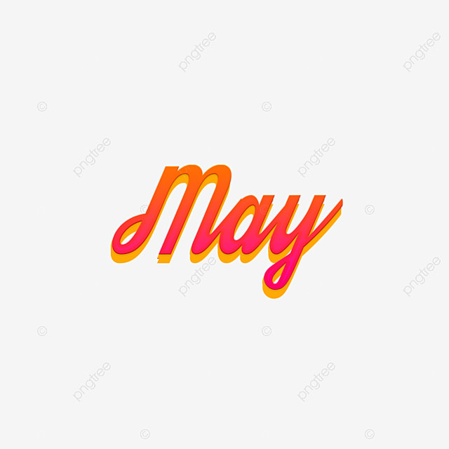 may 3d month art font png and psd graphic files Art Font For Free
