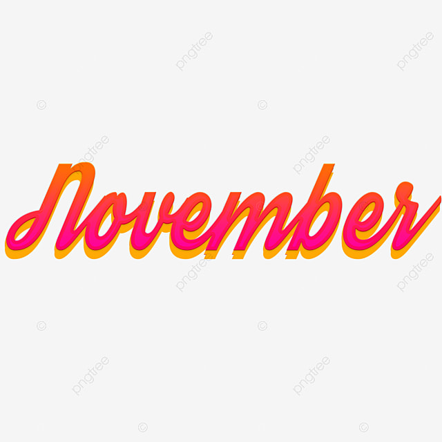 november 3d month art font png and psd graphic files Art Font For