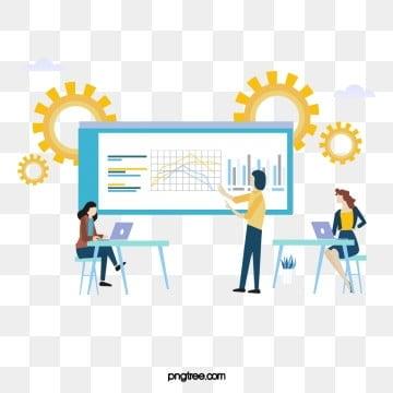 만화 비즈니스 협력 온라인 infographic infographic, 정보, 도표, 톱니바퀴 PNG 및 PSD