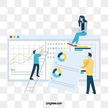 만화 비즈니스 infographic 협력 일러스트 레이션, 노랑색, 코트, 도표 PNG 및 PSD