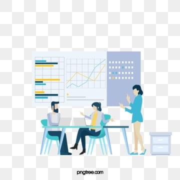 만화 비즈니스 온라인 협력 아이콘 그림, Icon, 정보, 푸른색 PNG 및 PSD