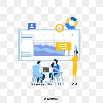 만화 온라인 비즈니스 ui 협력 그림, 상무., 협동, 노랑색 PNG 및 PSD